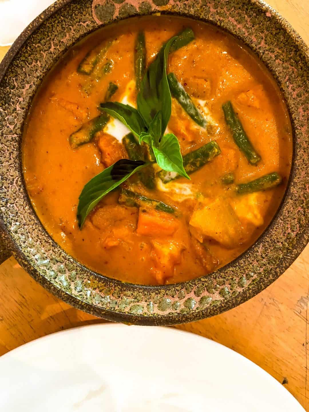 Cambodia Vegetable Curry at Footprint Cafe's