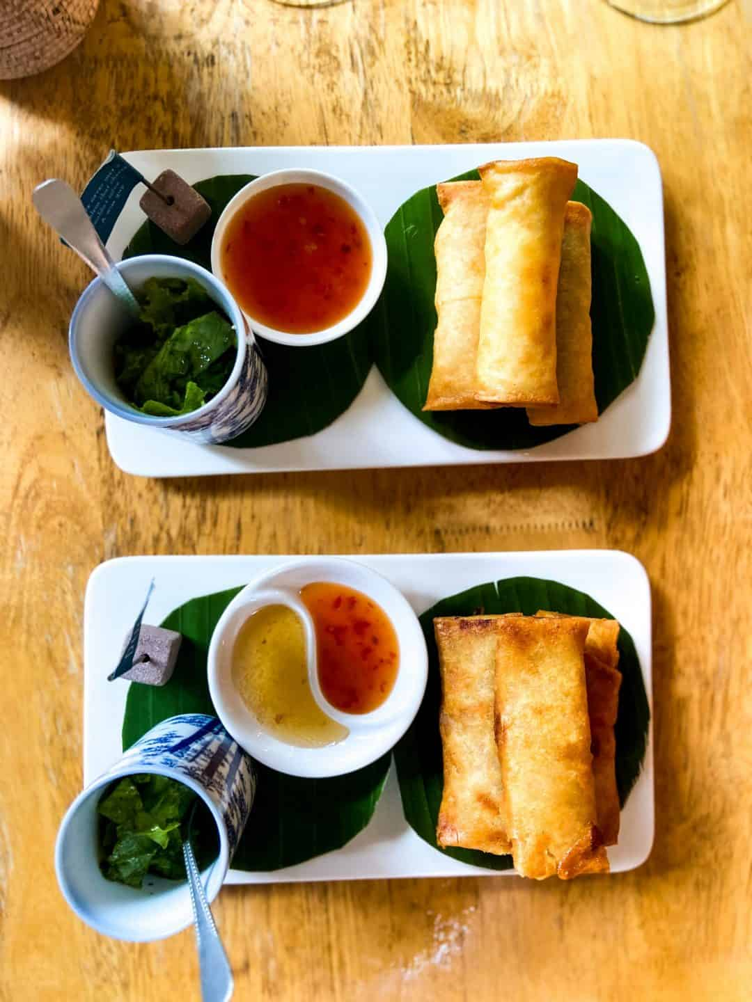 Fried Spring rolls at WILD - Creative Bar & Eatery