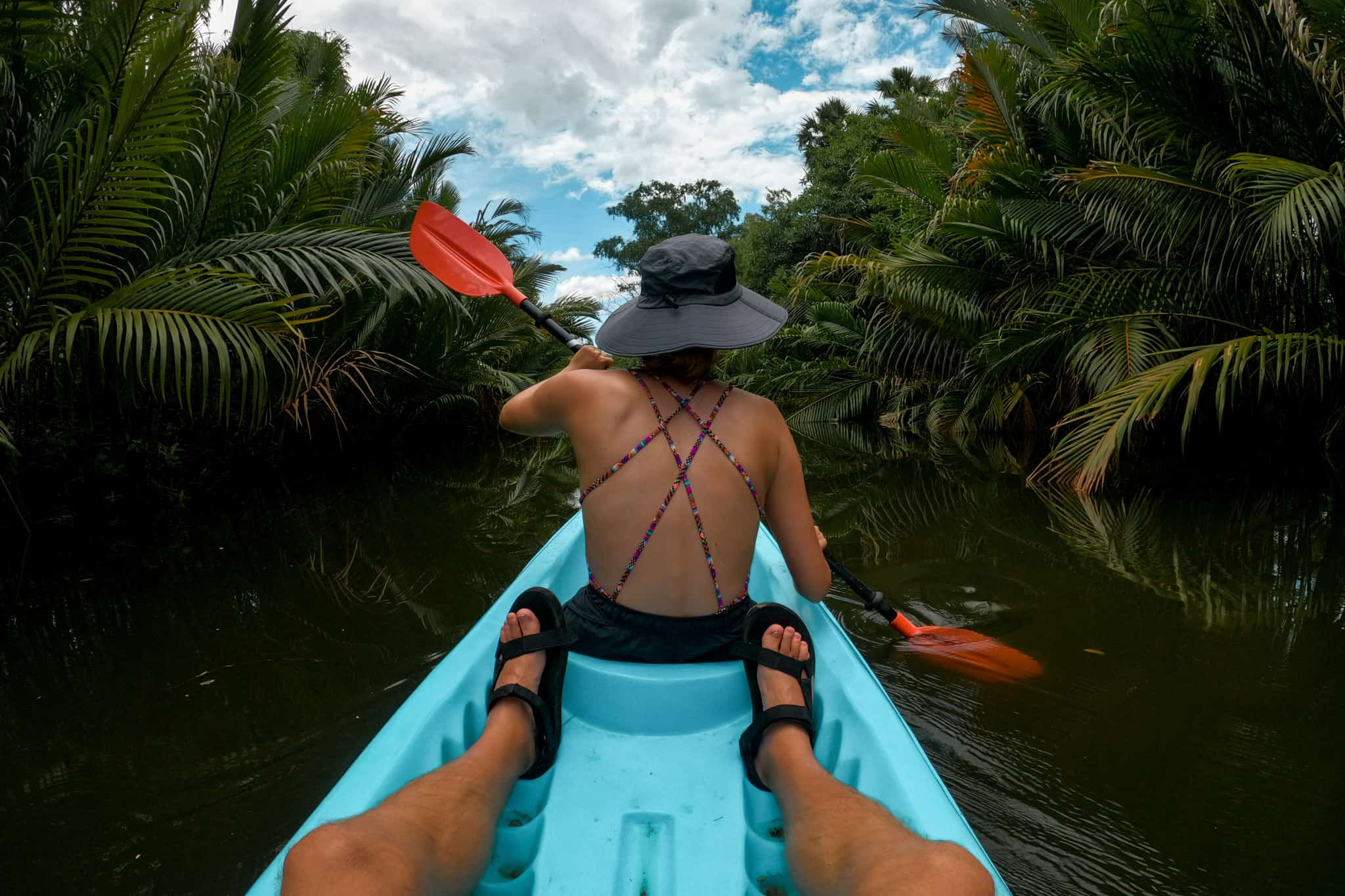 Alicia Kayaking on the Green Cathedral