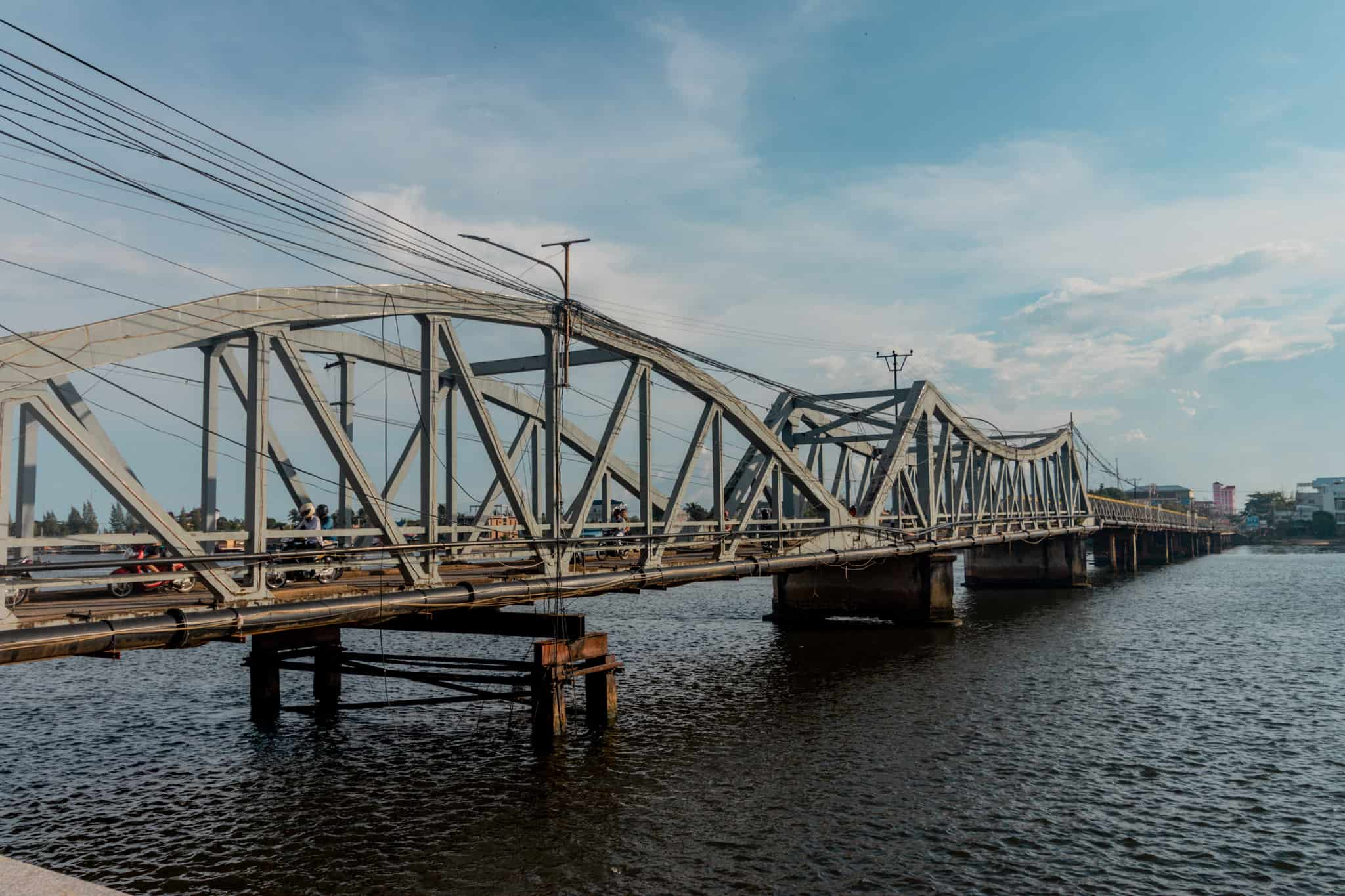 The Old French Bridge in Kampot, Cambodia