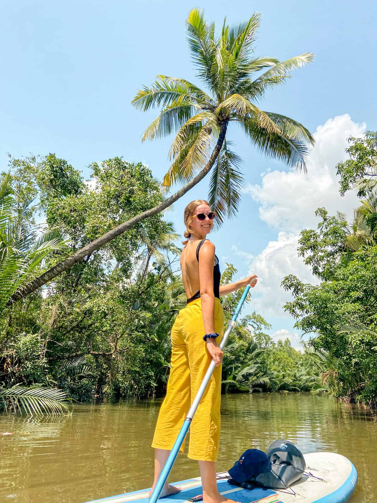 Alicia Stand Up Paddleboarding on SUP Asia Tour