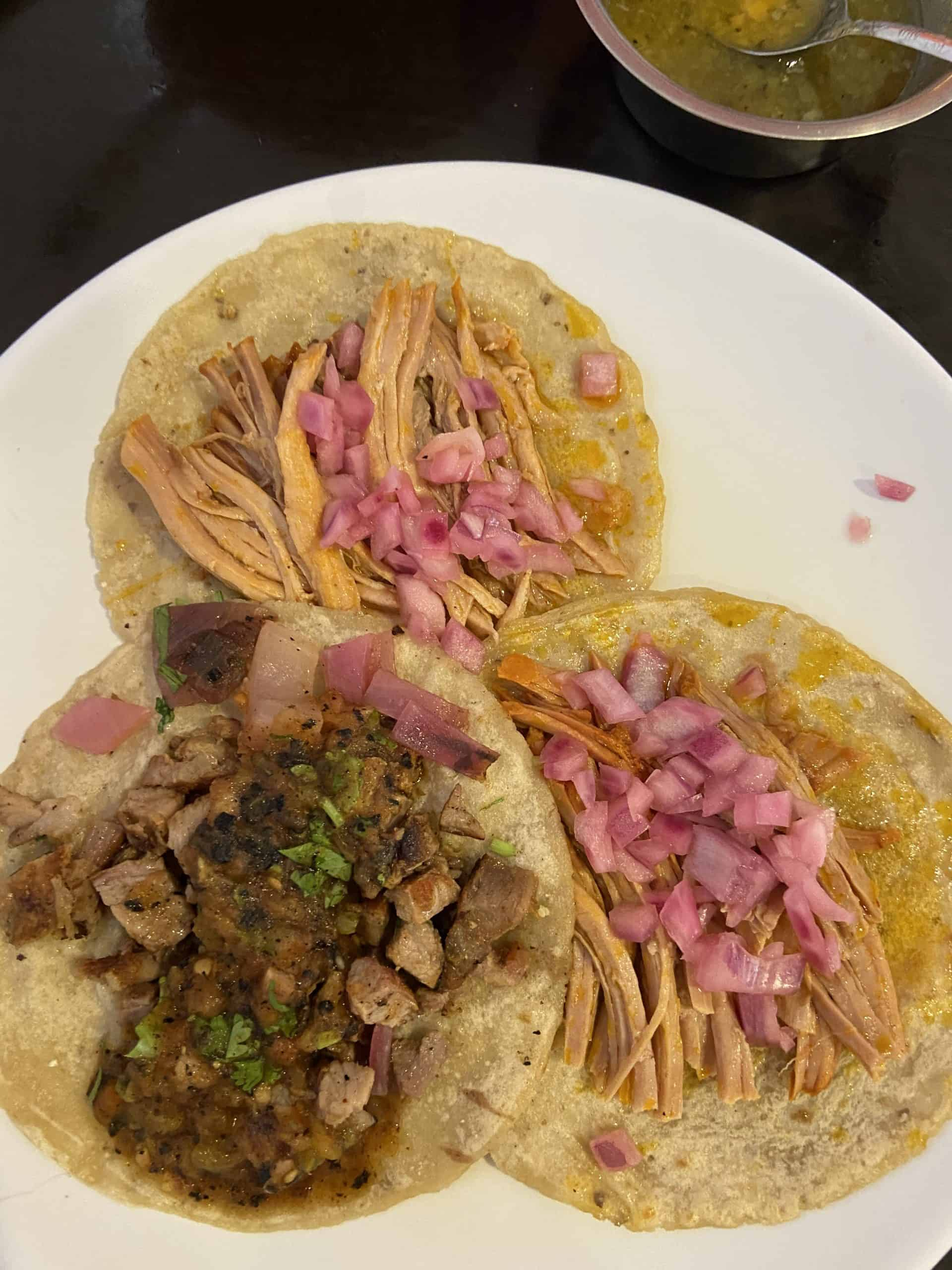 Tacos at Taqueria Honorio in Tulum