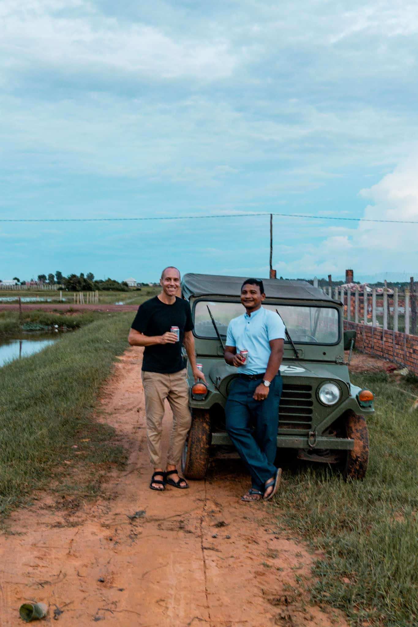 Nathan & Mork by the Jeep