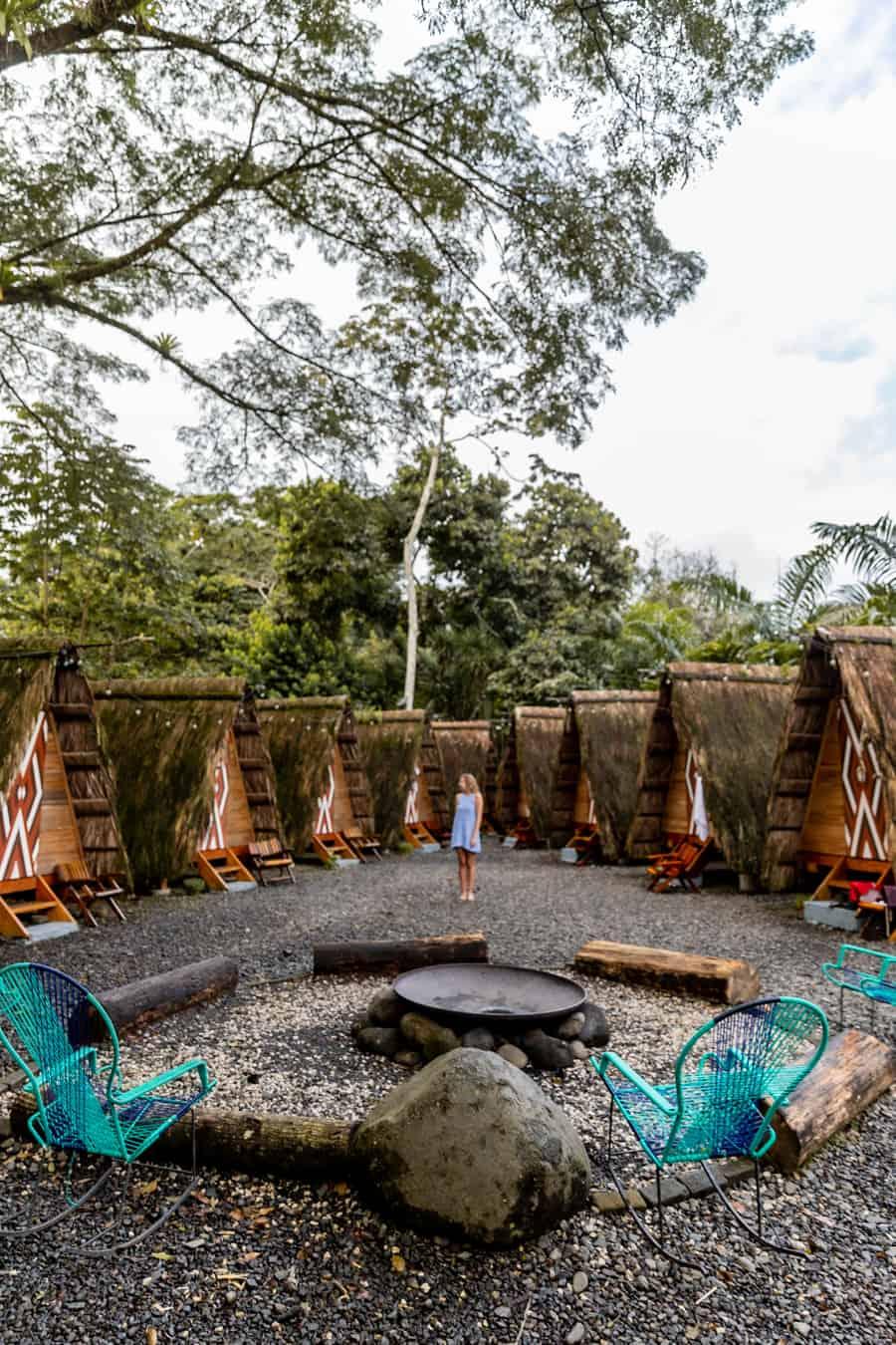 Costa Rica Travel Guide - The Passport Couple at Tee-Pee Hostel - Selina Hostel La Fortuna, Costa Rica